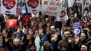 Pakistan Charlie Hebdo Protest