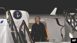 克林顿国务卿抵达布鲁塞尔