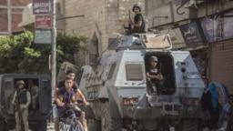 Des soldats dans le nord du Sinaï, en Egypte, le 26 juillet 2018.