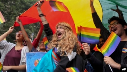 Join gay activists