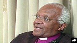Anglican Archbishop Desmond Tutu of South Africa (file photo)