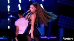FILE - Ariana Grande performs during Wango Tango concert at Banc of California Stadium in Los Angeles, California, U.S., June 2, 2018.