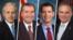 از راست تیم کین (دموکرات)، تام کاتن، اد رویس و باب کورکر (همگی جمهوریخواه)