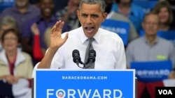 Tổng thống Obama nói chuyện tại cuộc vận động tranh cử ở Cincinnati