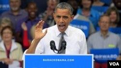 奥巴马总统9月17日在俄亥俄州的辛辛那提竞选