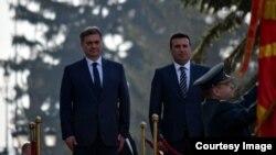 Doček predsjedavajućeg Vijeća ministara BiH Denisa Zvizdića u Skoplju