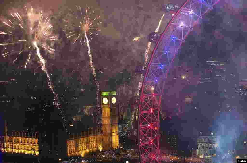 Лондон. Празднование Нового года