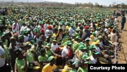 Part of the crowd which attended President Robert Mugabe's election rally in Mutare, Manicaland