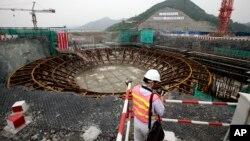 Lokasi pembangkit Listrik Tenaga Nuklir Sanmen yang sedang dibangun di provinsi Zhejiang, China timur (foto: dok).