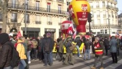 French Unions Vow to Continue Protests Against Pension Reform