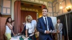 ျပင္သစ္ေရြးေကာက္ပြဲ သမၼတ Macron ပါတီ အျပတ္အသတ္ ဦးေဆာင္ေန