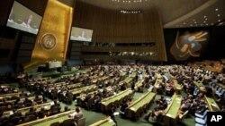 Suasana sidang Majelis Umum PBB di Kantor Pusat PBB, New York, Amerika Serikat (Foto: dok). Iran, Suriah dan Korea Utara telah menghambat pemberlakuan perjanjian PBB yang mengatur perdagangan senjata sedunia, Kamis (28/3).