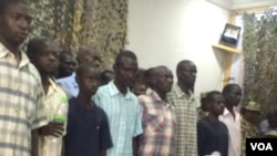 Wasu 'yan Boko Haram da suke hannun hukumomin Najeriya
