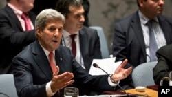 Le secrétaire d'Etat américain John Kerry, aux Nations Unies (AP)