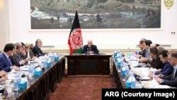 د جمهور رئیس غني په مشرۍ د افغانستان د کابینې یوه غونډه