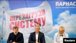Kandidati stranke Parnas pred ruske parlamentarne izbore