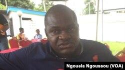 Commandant Pierre Rodrigue Mavoungou du commissariat de Doujé, à Brazzaville, le 22 mars 2018. (VOA/Ngouela Ngoussou)