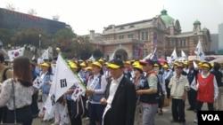 지난 14일 서울역 광장에서 열린 '북핵규탄 및 평화통일기원대회'.