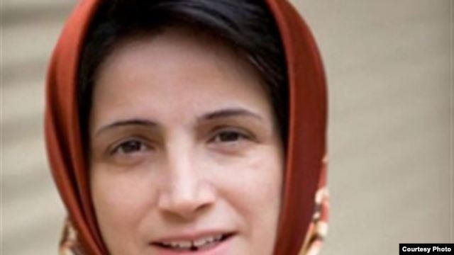 Iranian human rights activist Nasrin Sotoudeh ended a 49-day hunger strike Tuesday after authorities lifted a travel ban on her daughter.