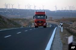Những turbine gió ở Khu tự trị Dân tộc Hồi Ninh Hạ ở tây bắc Trung Quốc