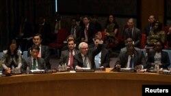 Đại sứ Nga Vitaly Churkin phủ quyết nghị quyết của Liên Hiệp Quốc yêu cầu các nước không công nhận kết quả cuộc trưng cầu dân ý về vùng Crimea.