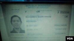 Paspor Bahrunnaim (Foto:dok).