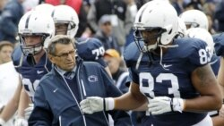 Former Penn State head football coach Joe Paterno at a game on October 15