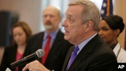 US Senator Richard Durbin is seen in a March 1, 2013, file photo.