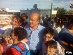 Daniel Martínez es el candidato presidencial del gobernante Frente Amplio en Uruguay.