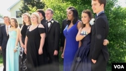 Yorktown High School students on June 3, 2017 before their prom.