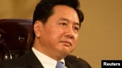 2004年7月22日华能国际公司董事长李小鹏在北京接受采访。他后来转任山西省长