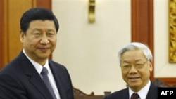 Phó Chủ tịch TQ, Tập Cận Bình, gặp Tổng Bí thư Nguyễn Phú Trọng của VN tại Hà Nội ngày 21/12/2011