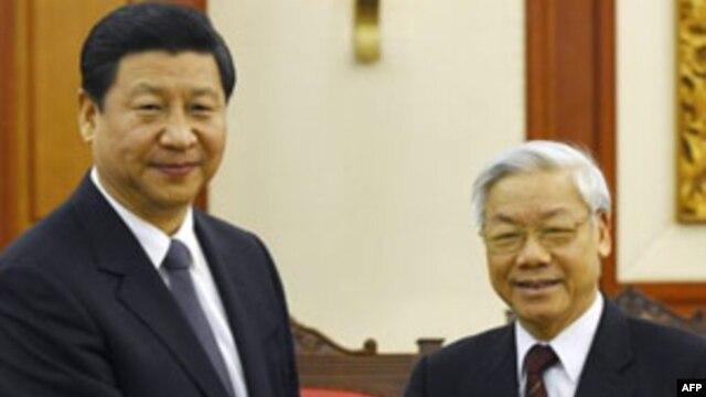 Tổng bí thư Đảng Cộng Sản Việt Nam Nguyễn Phú Trọng và Chủ tịch Trung Quốc Tập Cận Bình