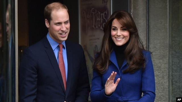FILE - Prince William The Duke of Cambridge and Catherine The Duchess of Cambridge.
