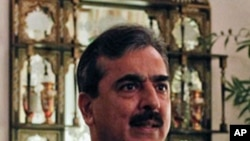 Pakistan's Prime Minister Yusuf Raza Gilani at his residence in Islamabad, Pakistan. (file)