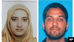 Tashfeen Malik et Syed Farook, le 2 décembre 2015. (FBI et California Department of Motor Vehicles via AP)