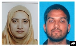 An undated combination of California Department of Motor Vehicles photos shows Tashfeen Malik, left, and Syed Farook, the husband and wife who died in a gunbattle with authorities after a mass shooting in San Bernardino, California, Dec. 2, 2015.