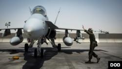 عکسی از یکی از جنگنده ها علیه داعش، آرشیو