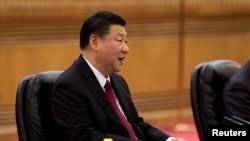 中國國家主席習近平在北京人大會堂的一次會議上講話(2017年12月21日)