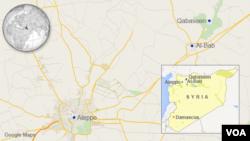 Peta Al-Bab dan Qabaseen, Suriah