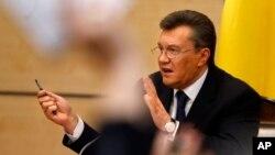 یوکرین کے معزول صدر وِکٹر یانوکووچ (فائل فوٹو)