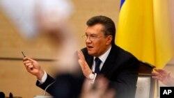 ယူကရိန္းသမၼတေဟာင္း Viktor Yanukovych သတင္းစာရွင္းလင္းပြဲ။ (ေဖေဖာ္ဝါရီ ၂၈၊ ၂၀၁၄)