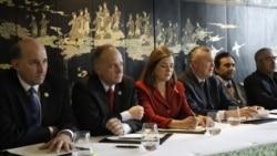 کنفرانس ۴ نماينده جمهوريخواه آمريکا و چند رهبر ائتلاف شمال افغانستان در برلين