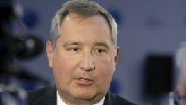 Dmitry Rogozin speaks to the media at a Global Policy Forum in Russia old city Yaroslavl, Russia, Sept. 7, 2011.