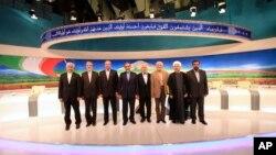 지난달 31일 이란 대통령 선거 후보들이 TV 토론을 벌였다.