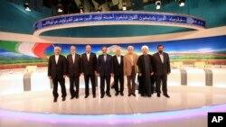 Các ứng cử viên Tổng thống Iran sau cuộc tranh luận trên truyền hình ở Tehran, Iran, 31/5/2013