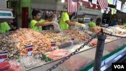 Các mặt hàng hải sản Mỹ sẽ chịu mức thuế cao khi vào thị trường Trung Quốc