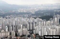 대규모 아파트단지가 몰려 있는 서울 강남구 일대 전경.