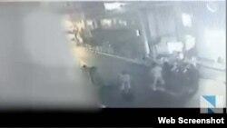 Camera giám sát an ninh quay được cảnh vụ ẩu đả.