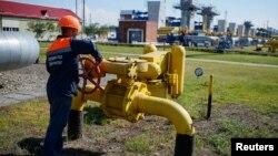 우크라이나 스트리이의 가스 저장시설. (자료사진)